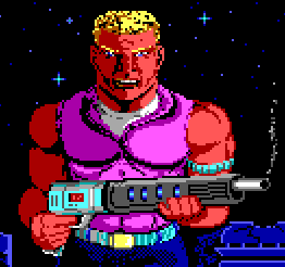 Pixelated badassery. I advise you not to have a problem with his name.