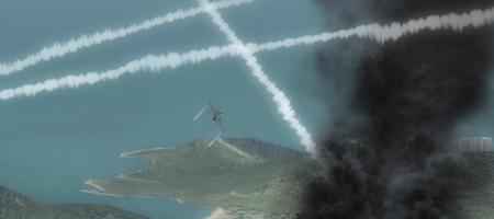 I wanted to play Naughts and Crosses with missile trails, but I couldn't figure out how to do the Naughts.