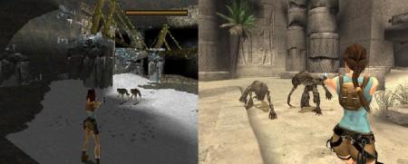 Tomb Raider, 1996 (Left) Tomb Raider Anniversary, 2007 (Right)