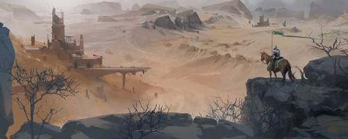 Unsung Story Concept Art Desert Fortress